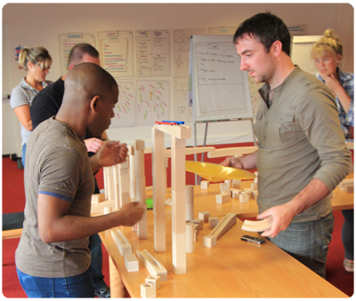 Indoor team building workshops london
