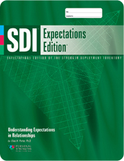 SDI Strength Deployment Inventory expectations edition